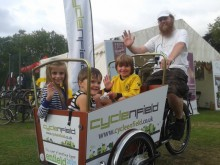 Cargo Trike try out at the Enfied Town Show