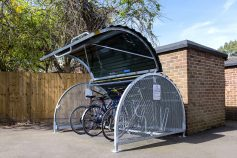 Secure residential bike hangar